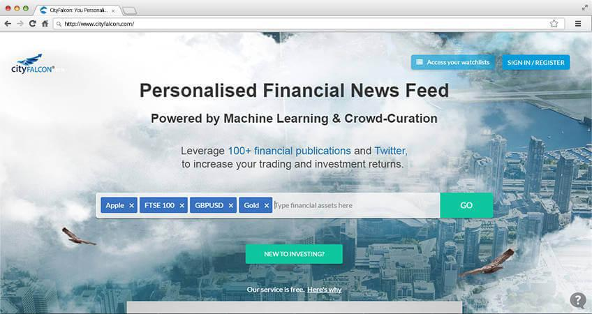 Cityfalcon financial news feed development