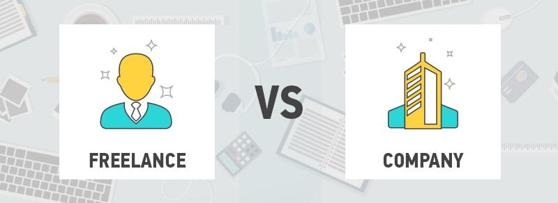 Freelance VS Web development company