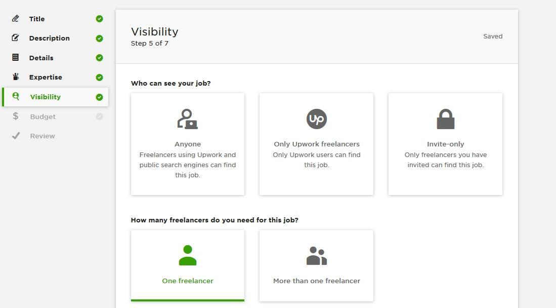 upwork visibility