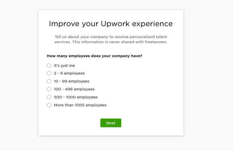 upwork experience