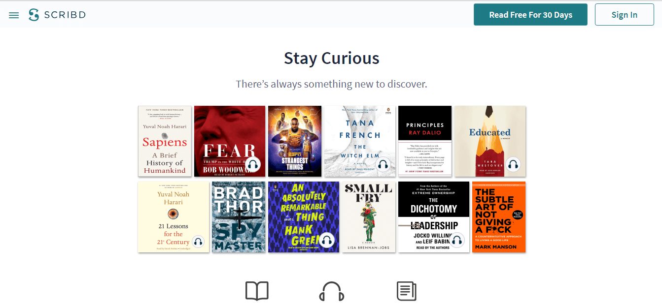 Scribd website