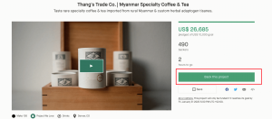 Crowdfunding platform: support a campaign on Kickstarter