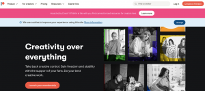 patreon home page