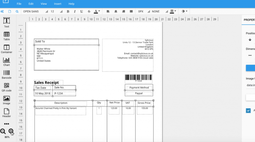 Veeqo - Creating an invoice