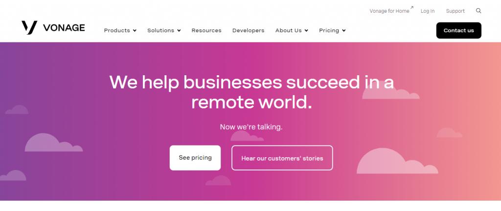 Nexmo OpenTok home page
