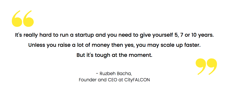 How to Scale a Startup: CityFALCON