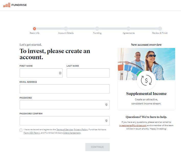 Fundrise registration