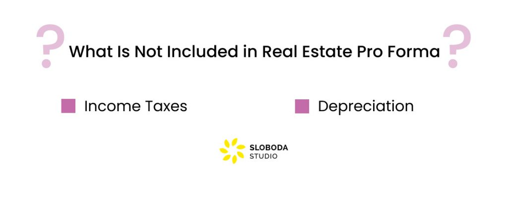 What Is Not Included in Real Estate Pro Forma?