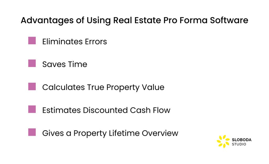 Advantages of Using Real Estate Pro Forma Software