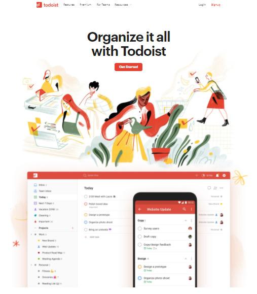 second best to-do list app - Todoist