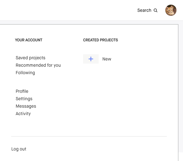How to create a crowdfunding platform: Kickstarter user account