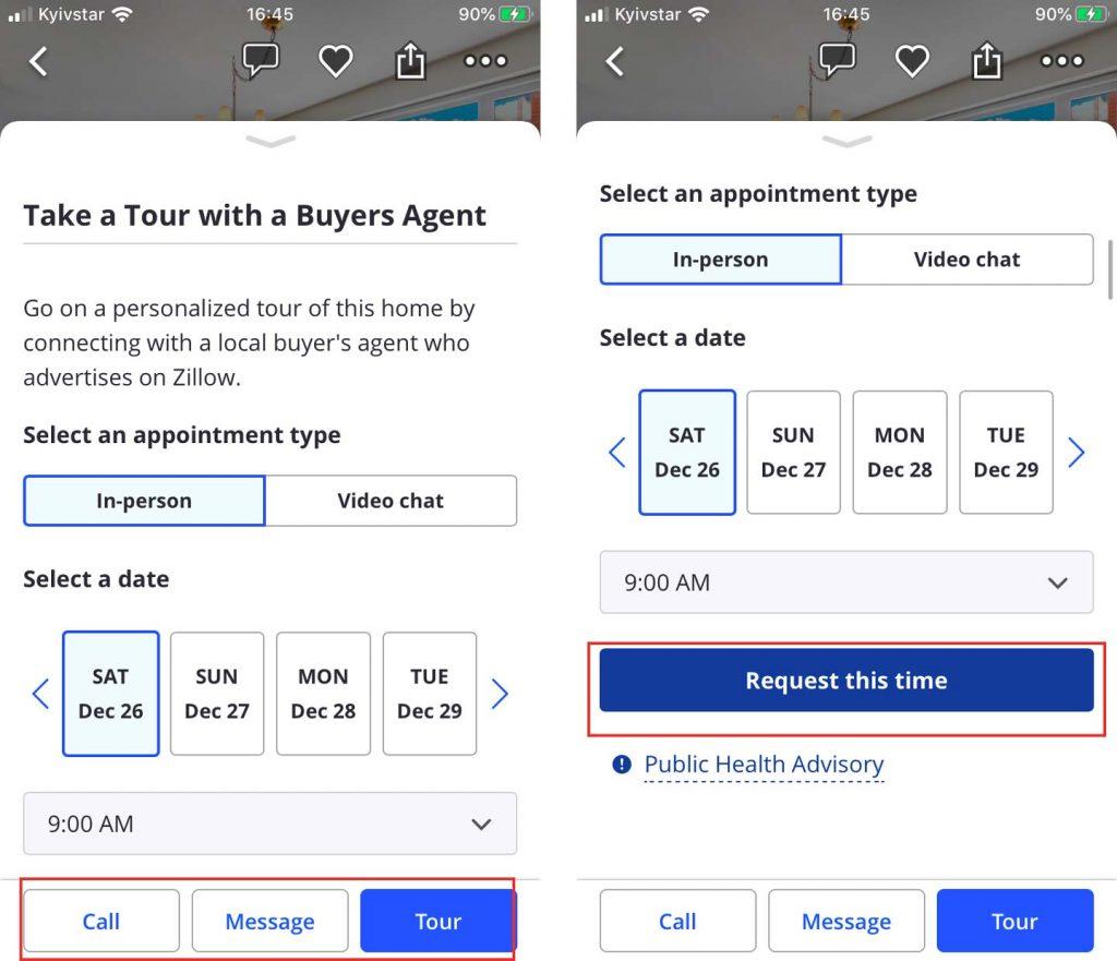 real estate mobile app development contact