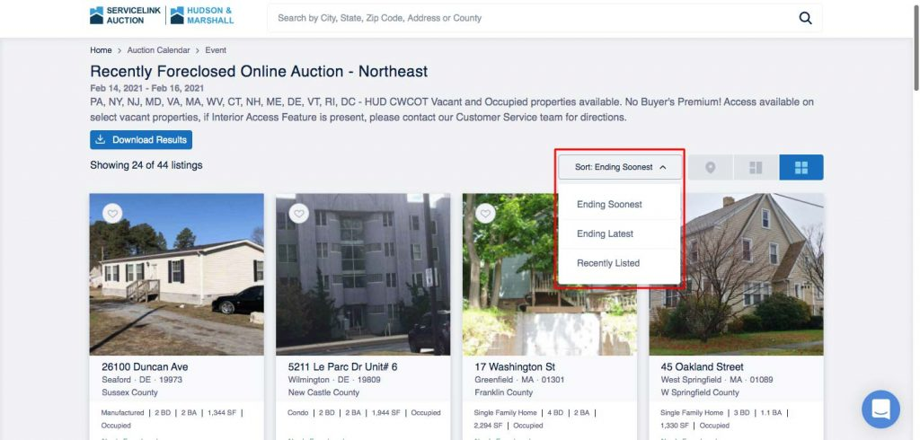 How to Build an Auction Platform for Real Estate: sorting