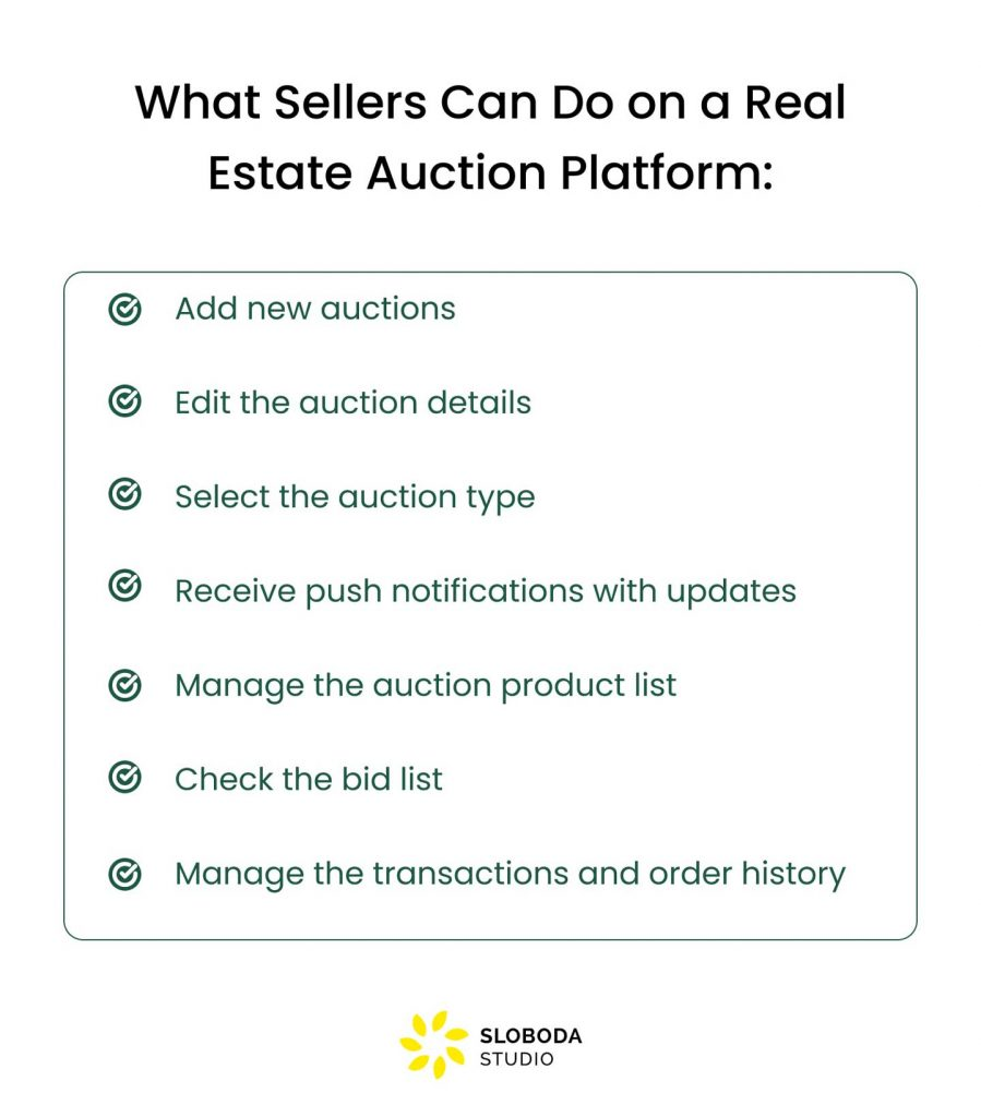 How to Build an Auction Platform for Real Estate: features for sellers