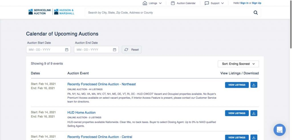 How to Build an Auction Platform for Real Estate: calendar
