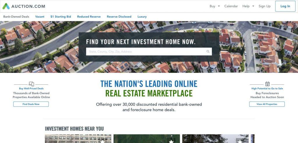 auction.com homepage
