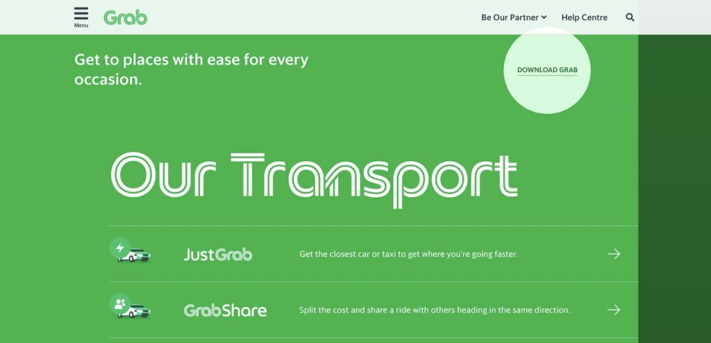 How to Create a Ride Sharing App: grab