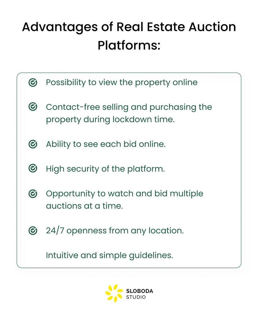 real estate auction website advantages