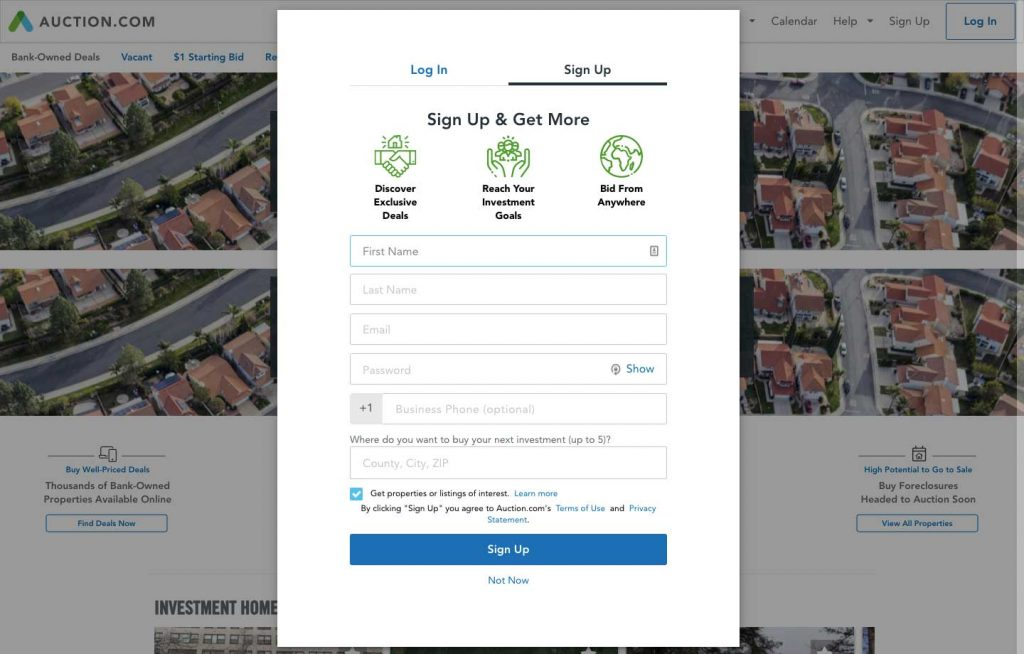 How to Build an Auction Platform for Real Estate: registration
