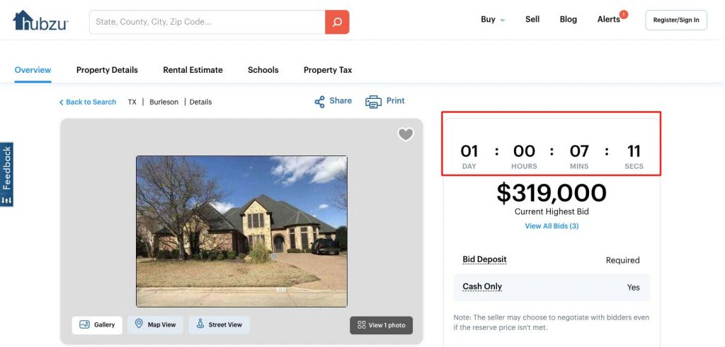 How to Build an Auction Platform for Real Estate: timer