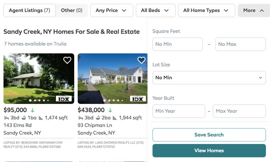 rental marketplace: search and filters