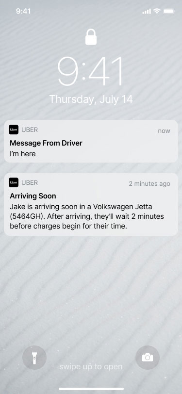 How to Create a Ride Sharing App: Uber Notifications Feature