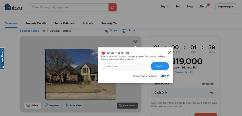 How to Build an Auction Platform for Real Estate: save property