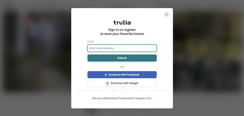 rental marketplace: trulia registration