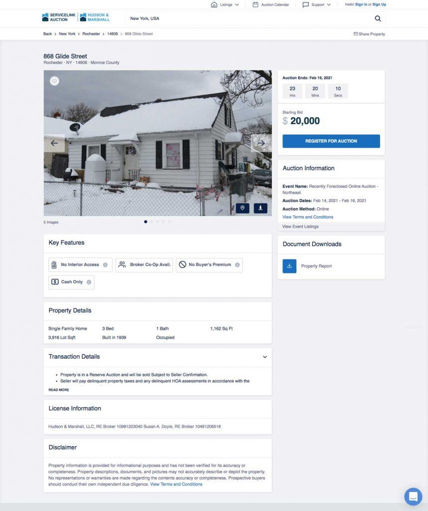 How to Build an Auction Platform for Real Estate: properties description