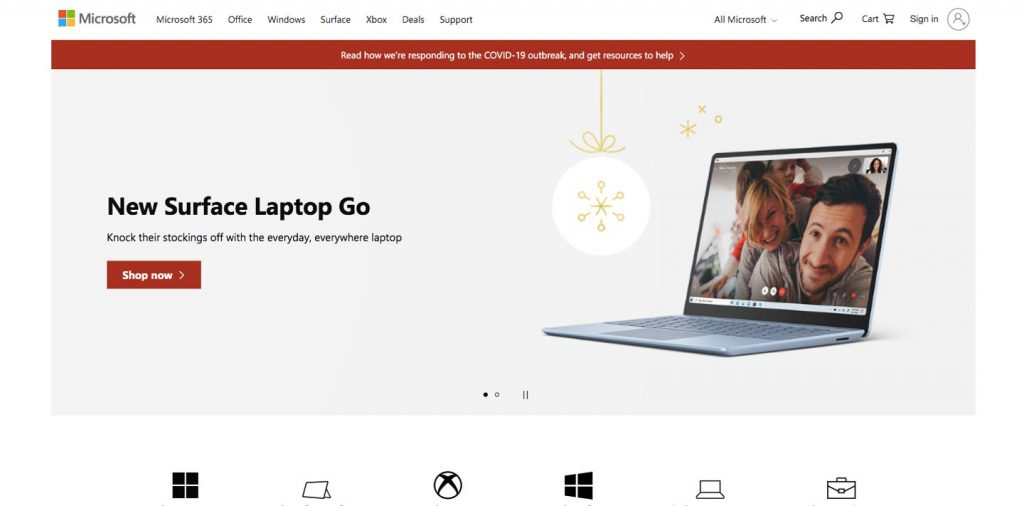 microsoft corporation homepage
