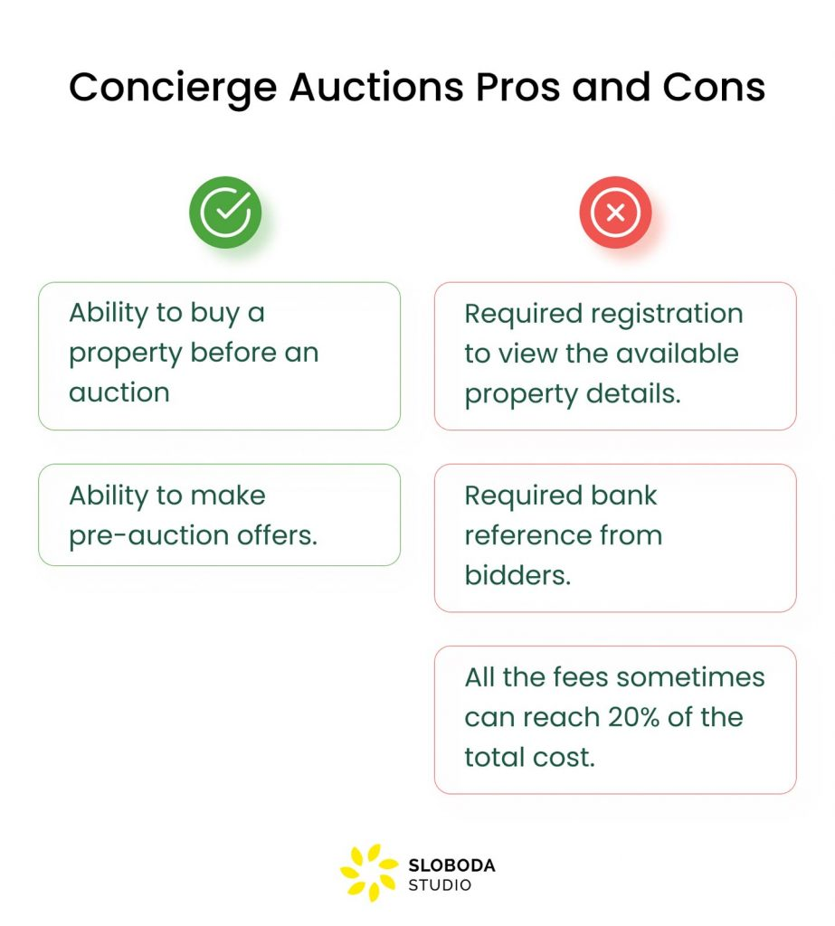 concierge auctions pros and cons