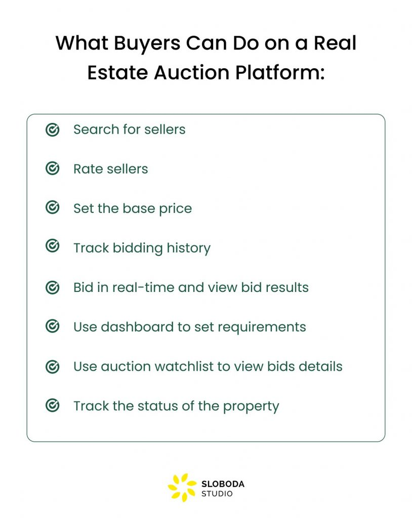 How to Build an Auction Platform for Real Estate: features for buyers