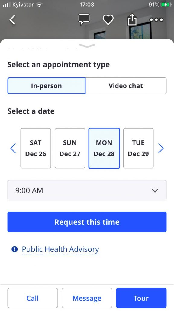 real estate mobile app development calendar