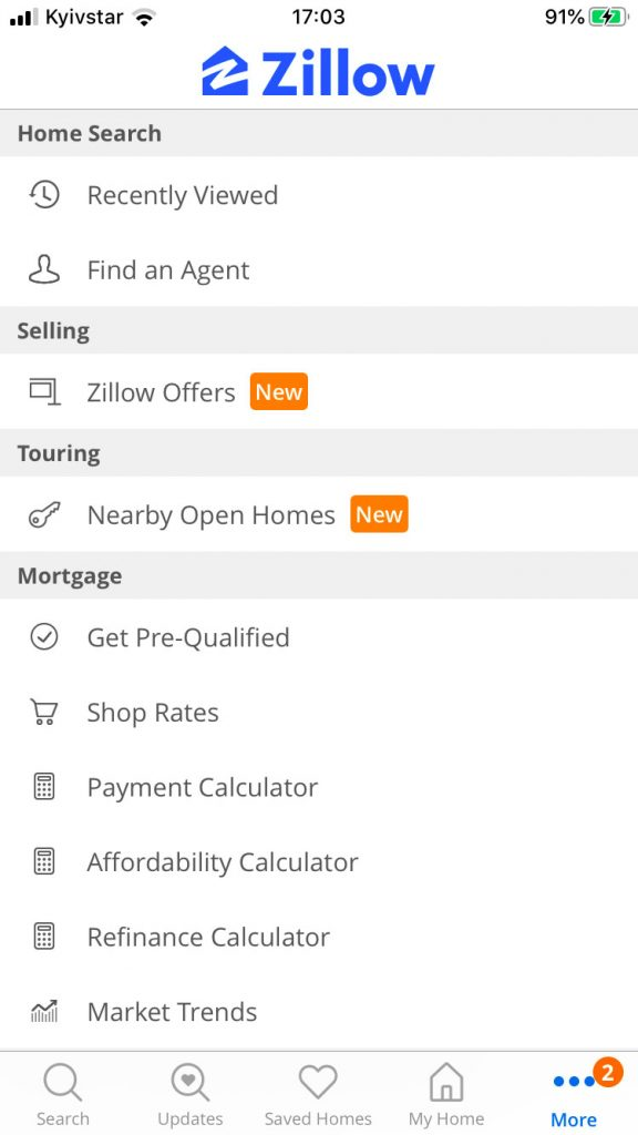 real estate mobile app development personal profiles