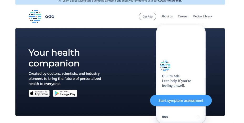 How to Build a Chatbot with Natural Language Processing: Ada Health Chatbot