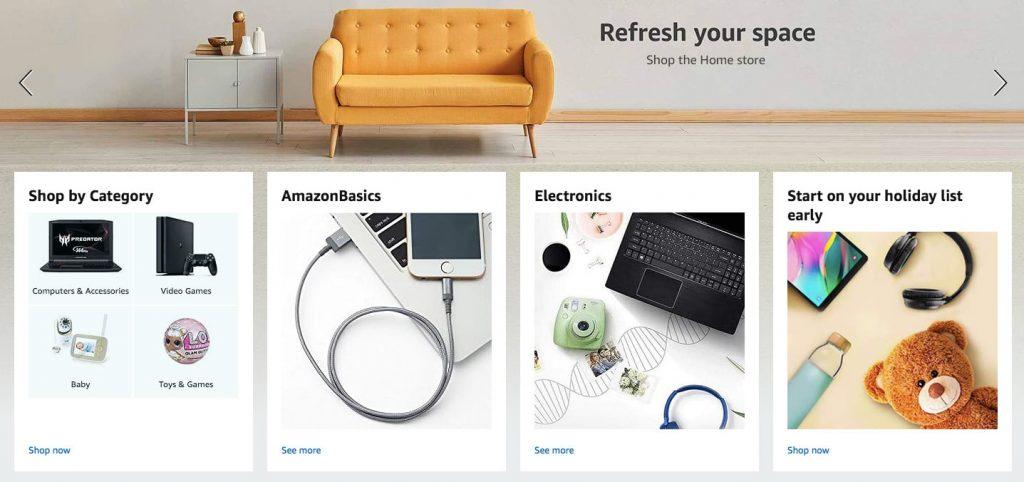 make an ecommerce website like amazon: listings