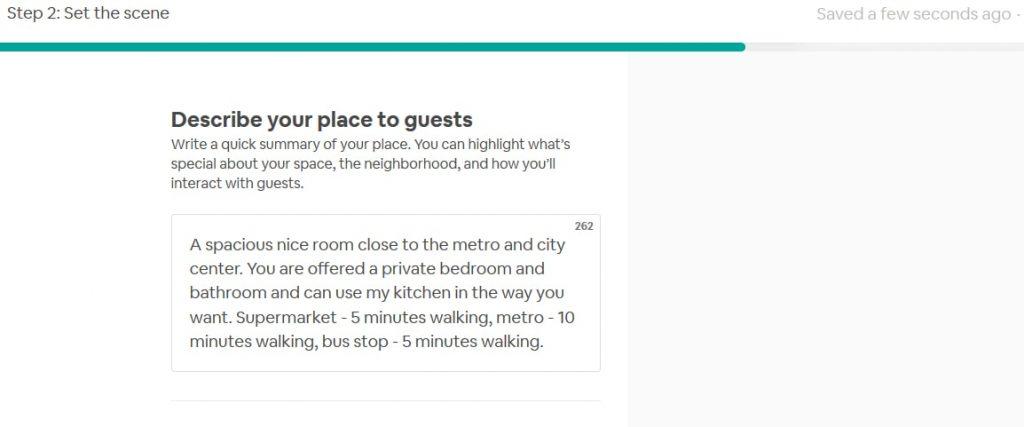 sample airbnb description