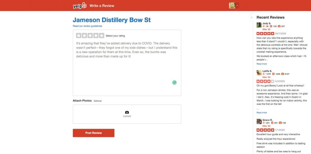 create a review app like Yelp: photo and video uploading