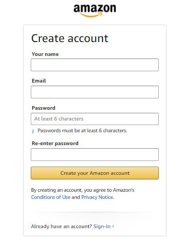 make an ecommerce website like amazon: login and sign up