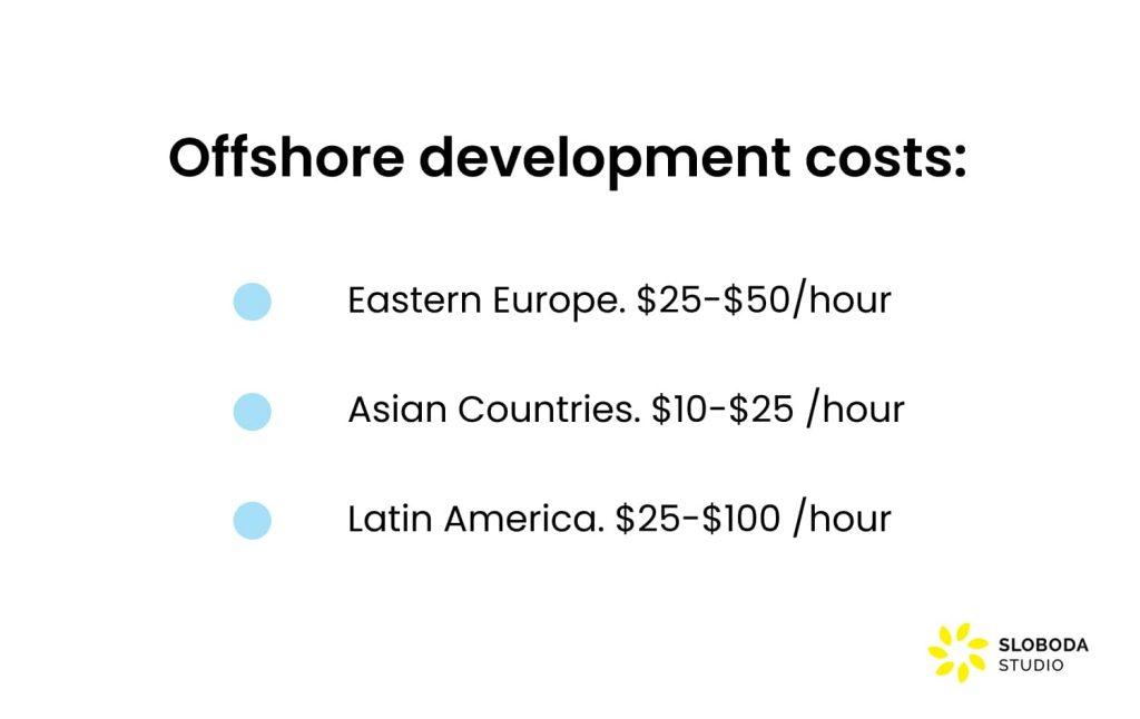 offshore development costs