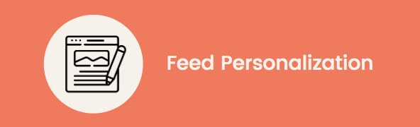 machine learning marketplace: feed personalization