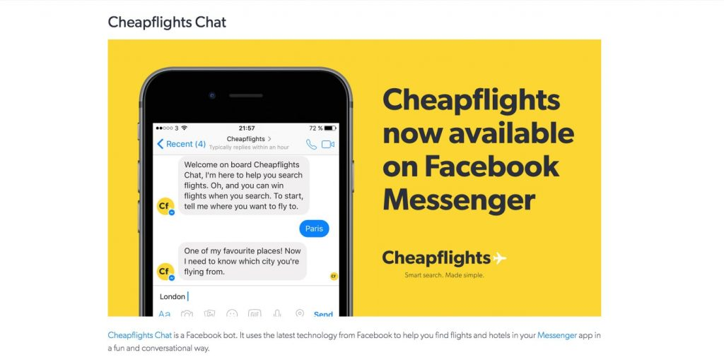 How to Build a Chatbot with Natural Language Processing: Cheapflights Chat