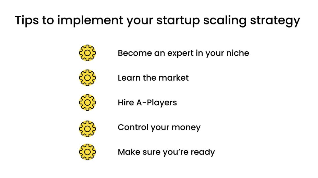 How to Scale a Startup: tips for startup scaling strategy implementation
