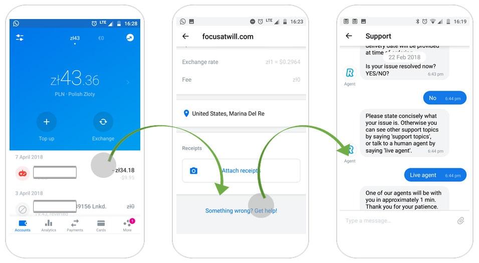 how to build app like revolut: customer support