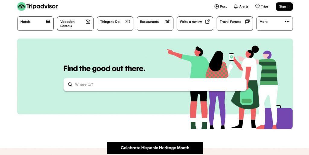 create a review app like Yelp: tripadvisor