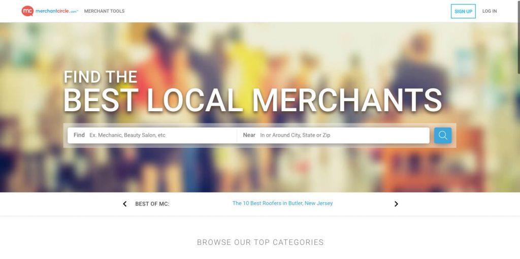create a review app like Yelp: merchantcircle