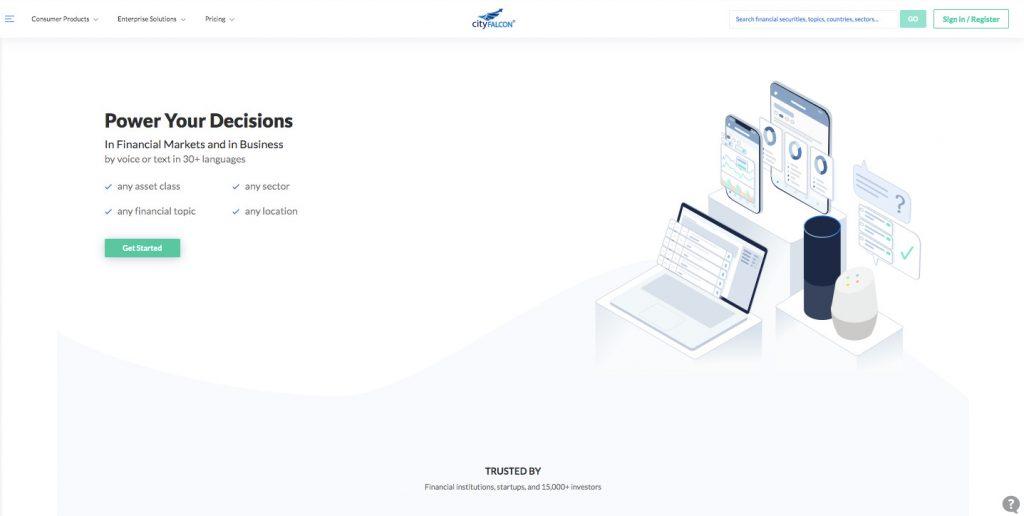 machine learning marketplace: CityFALCON
