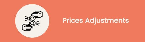 machine learning marketplace: prices adjustments