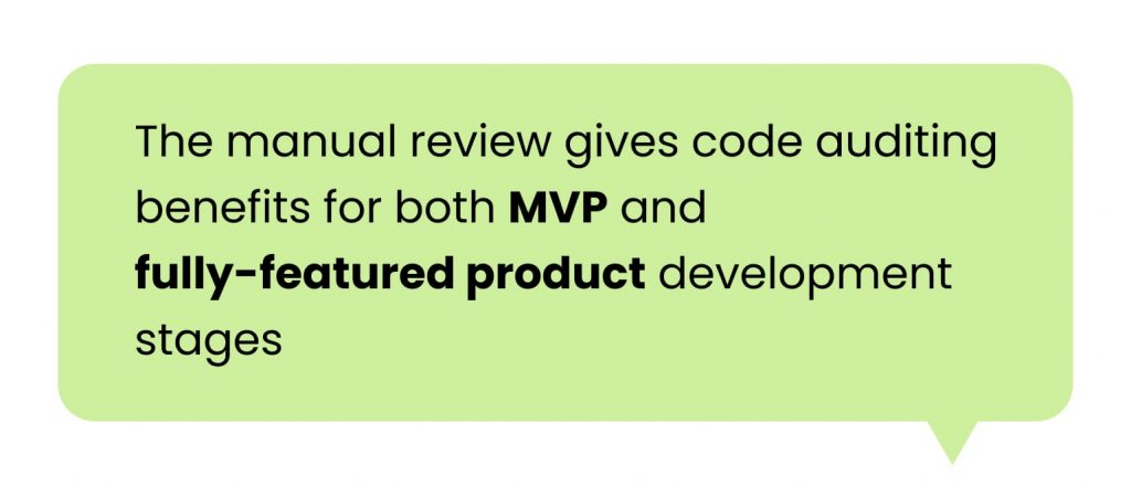 Code review service: manual review