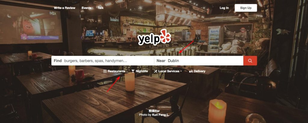 create a review app like Yelp: location-based search